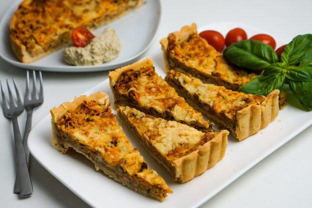 Süßkartoffel-Käse Tart